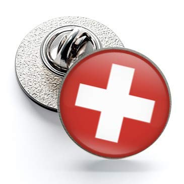 Gemelolandia | Pin de Solapa Magglass Bandera Suiza Switzerland | Pines Originales Para Regalar | Para las Camisas, la Ropa o para tu Mochila | Detalles Divertidos