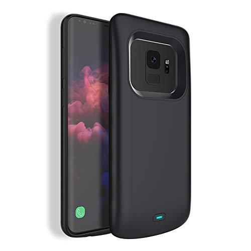 Kerter Funda Batería para Galaxy S9 - [4700mAh] Estuche de Carga Batería extendida para Samsung Galaxy S9 Batería Recargable Batería de Respaldo Power Bank Cargador portátil - Negro