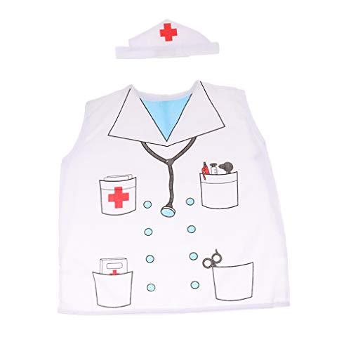 FITYLE Uniforme Escolar Unisex Niño Uniforme Disfraz Oficio Cosplay - Doctor