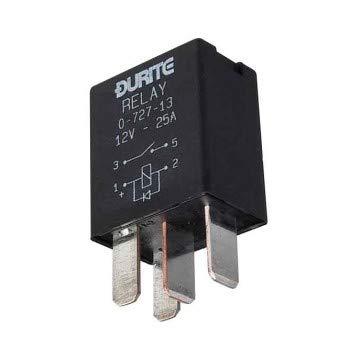 Durite – Relais Micro Make/Break 25 Amp 12 V scellé avec diode CD1–0 – 727–13