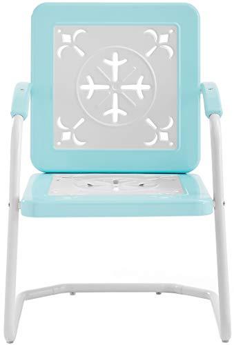 Crosley Furniture CO1026-TU Azalea Retro Metal Chairs (Set of 2), Turquoise