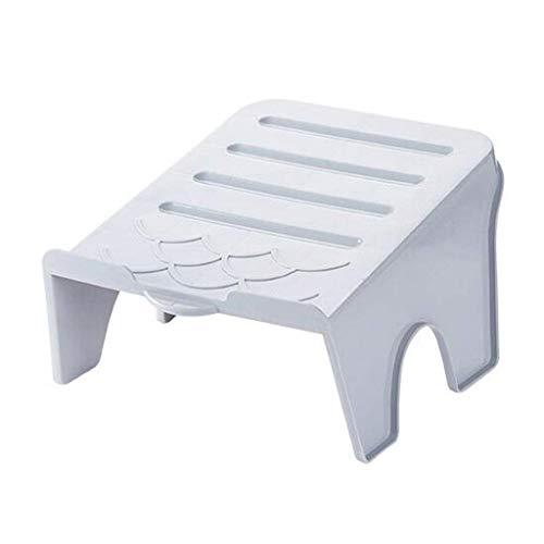 Zongha Estante de baño Colgadores de Zapatos Baño Zapatillas Rack Ajustable de Ranuras Zapatero de plástico Simple Estante de Zapatos ahorrador de Espacio Beige