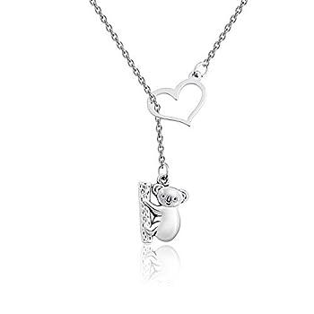 Gzrlyf Koala Bear Necklace Koala Lariat Necklace Koala Bear Gifts for Her  Y necklace