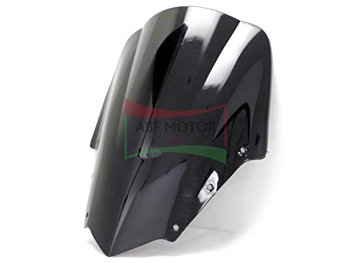Protek ABS Plastic Injection Black Smoke Double Bubble Transparent Windscreen Windshield for 2006 2007 2008 2009 2010 2011 2012 2013 2014 2015 Yamaha FZ1 Fazer