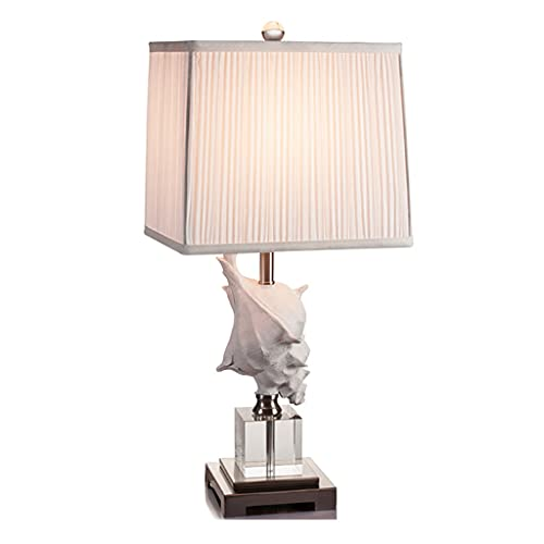 KGDC Lampara Mesilla Lámpara de Mesa Moderna Minimalista Dormitorio Lámpara de Cama Conch Conch Cristal Lámpara de Mesa Caliente Sala de Estar Corredor Iluminación Decorativa Lámpara de Mesa