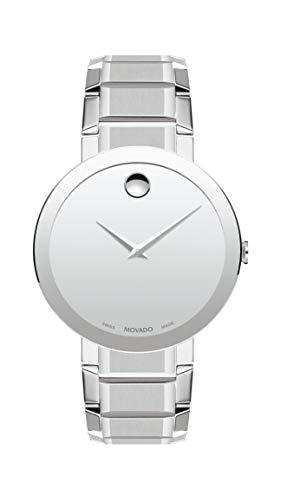 Movado Sapphire Reloj para Hombre, Esfera de Espejo Plateado, 0607178