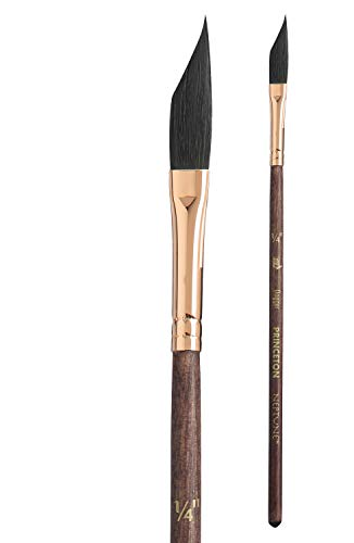 Princeton Artist Brush, Neptune Series 4750, Synthetic Squirrel Watercolor Paint Brush, Dagger Striper, Size 1/4 Inch