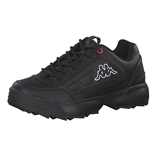 Kappa Unisex Rave NC Sneaker, 1111 Black, 40 EU