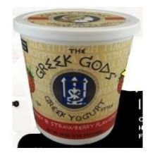 Greek Gods Honey Strawberry Greek Yogurt, 24 Ounce - 6 per case.