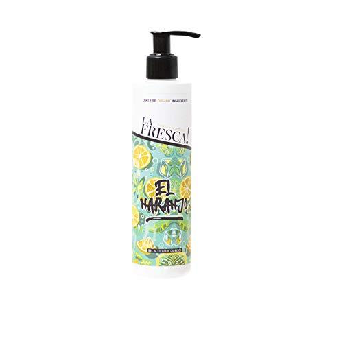 Gel de Rizos El Naranjo para el cuidado del cabello, mejora la hidratación, el brillo, el volumen y la elasticidad. Con extractos ecológicos, naturales y veganos. - 250 ml.