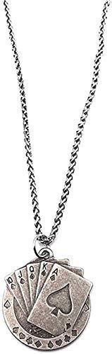 NC83 Collar Hip hop Collar Colgante Collar Todo-fósforo Hombres y mujeres Accesorios de personalidad de moda