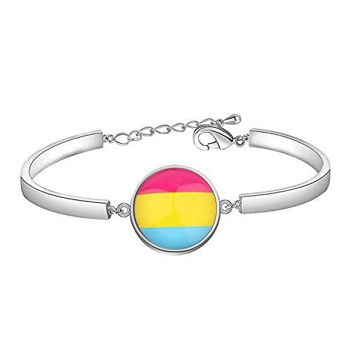 CHOORO LGBT Bracelet Rainbow Gay & Lesbian Pride Bracelet Bisexual Pride Bracelet Transgender Pride Bracelet LGBT Jewelry Gift (Pansexual br)
