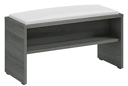 PELIPAL Solitaire 6005 Sitzbank/Graphit Struktur / 90 x 48 x 40 cm