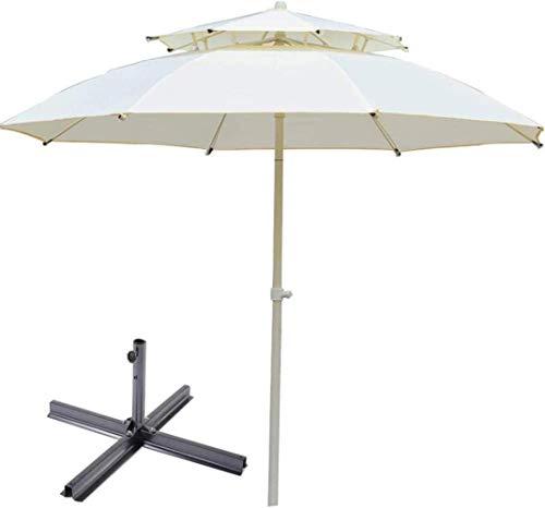 Al aire libre Paraguas Parasol, Sombrilla Sombrilla for el patio al aire libre Patio Parasol Canopy Playa Campamento de Protección Solar (Color: Rojo, Tamaño: 3m) ZDWN ( Color : White , Size : 2.5m )