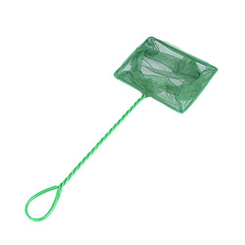 Leisial 1PC Grün Fish Net Fisch Kescher hochwertiges Fangnetz aus reißfestem Nylon für Aquarien Netz Garnelen Garnelenkescher,23 * 8 * 10CM