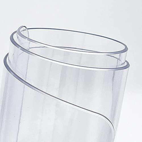 YQJ Mantel Transparente Rectangular,PVC Impermeable Resistente al Aceite y Resistente a Altas temperaturas Grosor 2mm,90x90cm/35.4x35.4in
