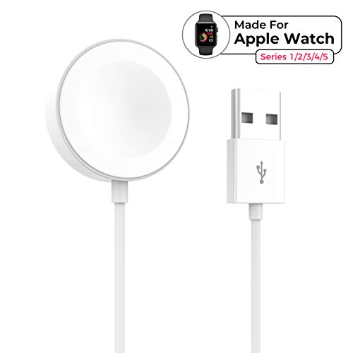 beegod Smart Watch Charger Update iWatch Charger Portable USB Magnetic Charging Cord Compatible for Apple Watch 38mm 40mm 42mm 44mm Series 5/4/3/2/1