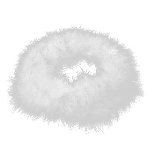N-K PULABO - Tira de plumas mullidas de 2 m, color blanco
