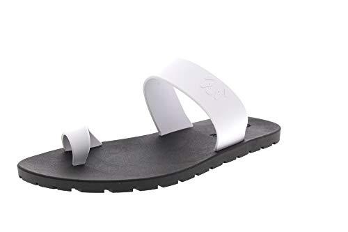 Paanda Damenschuhe - Flips Zehentrenner - White Black, Größe:39/40 EU