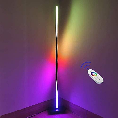 YXYOL LED Stehleuchte, Modern RGB Farbwechsel Hoch-Licht, Farbe Stehlampe für Schlafzimmer, Büros Anti-Tilt Dimmbare Innen Pole Lampe Ambient Light, 140 cm