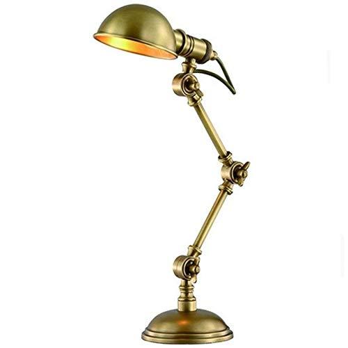 Lámpara de sala de estar de dormitorio American Village Retro lámpara de mesa de hierro, estilo de la linterna de la vendimia de noche lámpara de mesa lámpara de cabecera creativo Pescador estilo euro