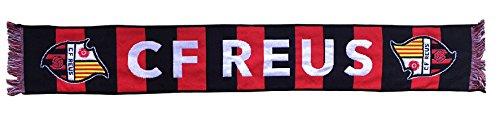 CF Reus Bufreu sjaal geweven, zwart/rood, 140 x 20 cm