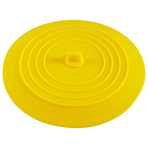 CZ Store Silikon-Abflussstopfen | 15 cm |✮LEBENSLANGE GARANTIE✮- Flexibel & wasserdicht - Universal-Abdeckung für Edelstahl-Küchenspüle, Keramik-Badewanne, Toilette, Waschbecken, Dusche – Gelb