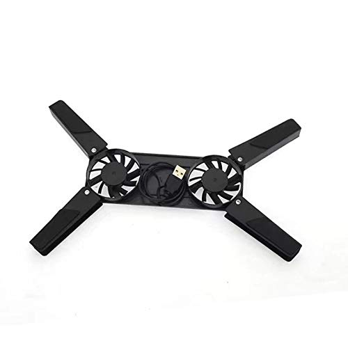 Appearantes Radiator Notebook Cooler Portable USB Interface Cooling Pad Folding Radiator Black