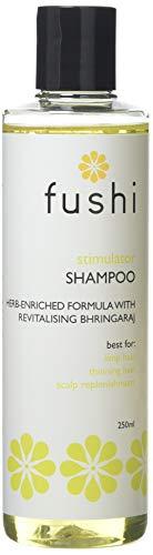 Fushi Stimulator Herbal Shampoo 250ml   Triple Infused Ayurvedic Fresh-GroundBhringraj   For Limp Hair, Thinning Hair, Scalp Replenishment   Plant Derived Ingredients  Ethical, Vegan & Made in the UK