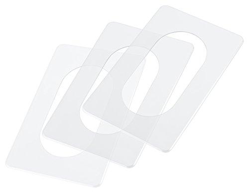 pekarek® Spar-Set : Schutz / Dekor Platte Transparent – 2 fach (5 Stück) + 5er Pack RuS Kindersicherung für Steckdose