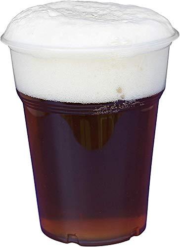 Gastro-Bedarf-Gutheil 1200 Stück Trinkbecher Becher 0,4 l transparent 400 ml mit Schaumrand Ausschankbecher Bierbecher Einwegbecher Partybecher