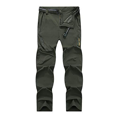 LY4U Pantalon de randonnée à séchage Rapide en Plein air pour Hommes léger Respirant Camping Trekking Course de Montagne Cyclisme Chasse Pantalon Extensible