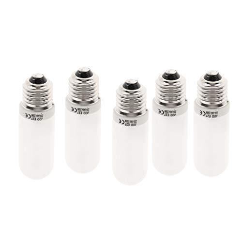 perfk 5X Halogenlampen Röhrenlampe Fotografie Flash Modellierung Licht Jdd Typ für Fotostudio-Blitz, 250 Watt E27