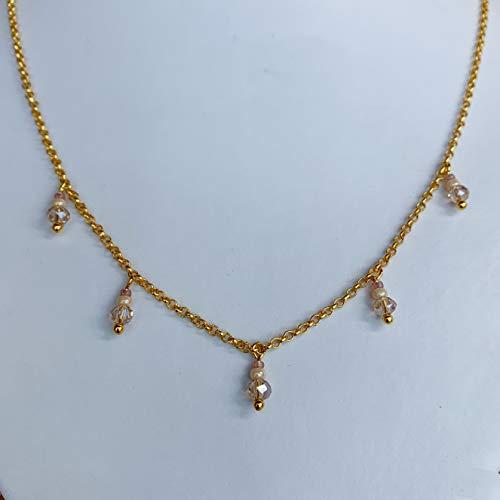 Kette mit kleinen Anhängern gold, mit Charms, Edelstahlkette, Halskette für Damen, Schmuck für Damen