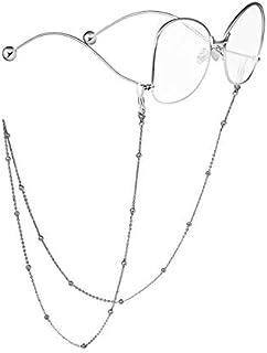 RANHUU Beaded Eyeglass Chains for Women Reading Glasses Cords Sunglasses Chain Holder Strap Lanyards Eyewear Retainer