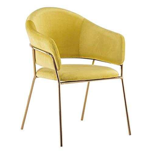 Feng Ergonomische bureaustoel Eetstoel Zijstoel Flanel Gecapitonneerde fauteuil Receptie Stoel Vanity Stoel Beauty Nagel Salon Spa Stoel met rugleuning