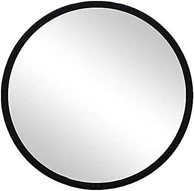 LamJum Round Black Framed Wall Mirror Simple Minimalist Design for Home Decor [Diameter - 10 inches]