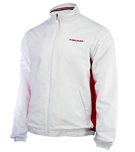 Head Jungen Tennisjacke Hartley JR All Season Jacket weiß / rot Gr. 140