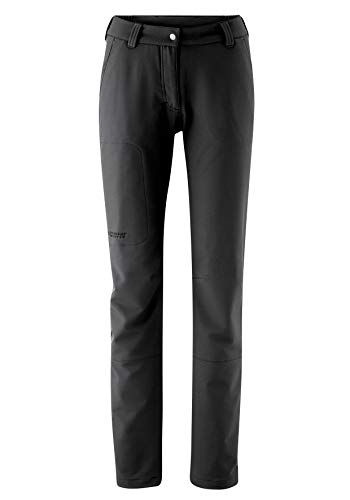 Maier Sports Damen Helga Softshellhose Outdoor Elastischhose, Schwarz (Black), 18