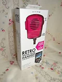 Hype Retro Walkie-Talkie Handset for Mobile Phone (Pink)