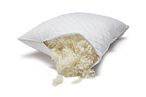 Paragon Woolen Dreams Hypoallergenic Wool Fill Pillow - King - Adjustable Loft - Healthier Sleep - Made in the U.S.A. by Veterans - Earth Friendly
