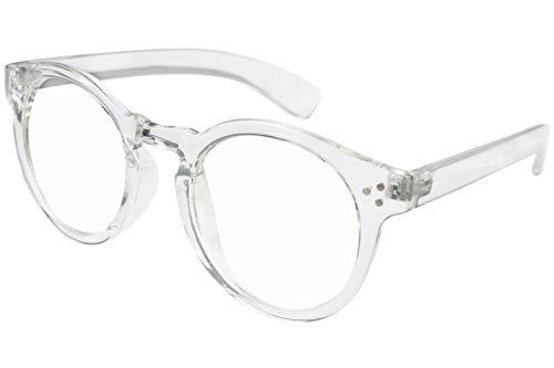 Transparent Plastic Clear Round Frame Glasses Rim 60 MM UV Blocking Eyeglasses