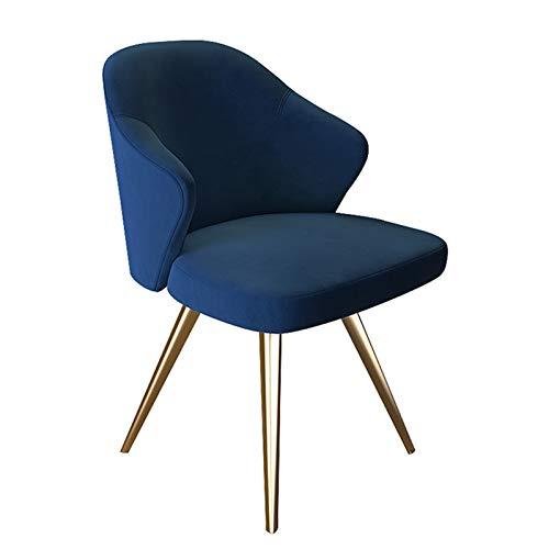 ALUNVA Moderner Look Samt-essstühle,Einzelsofa Sofa-seitenstuhl Akzentstuhl Mit Golden Metal Frame Legs Mit Arms and Back Support-Samt B 52 * 52 * 82(cm)