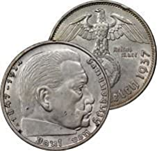 Germany Third Reich 1939A (Or rarer Mint Mark and Date) Reichsmark -- Nazi WW II Silver