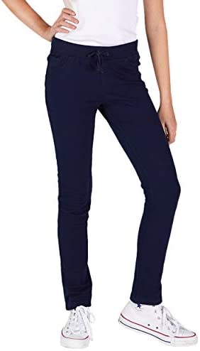 Elastic Waist with Tie 2 Back Pockets LEE Super Soft and Stylish French Terry Jeggings for Girls