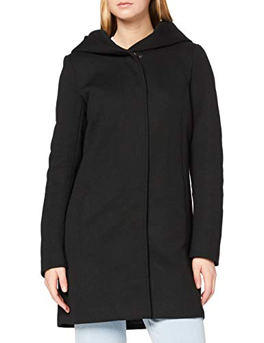 Only Onlsedona Light Coat Otw Noos Abrigo, Negro (Black Black), 38 (Talla del Fabricante: Medium) para Mujer