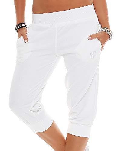 Gennadi Hoppe Damskie spodnie treningowe 3/4 spodnie sportowe krótkie spodnie sportowe fitness spodnie do joggingu szorty barmuda
