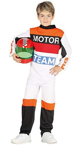 Guirca-87502 Disfraz 10-12 aos Piloto Motos, Multicolor (87502)
