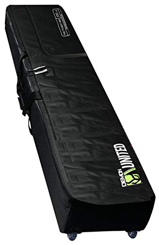DEMON UNITED 2020 New Flight Snowboard Travel Bag- Double Snowboard Bag for Airport Travel- Snowboard Bag Fully Padded with XL Sized Wheels Ultra Durable for Airline Travel Comes with TSA Approved