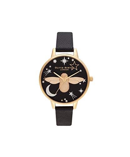 Olivia Burton Damen Analog Quarz Uhr mit Kunststoff Armband OB16GD21